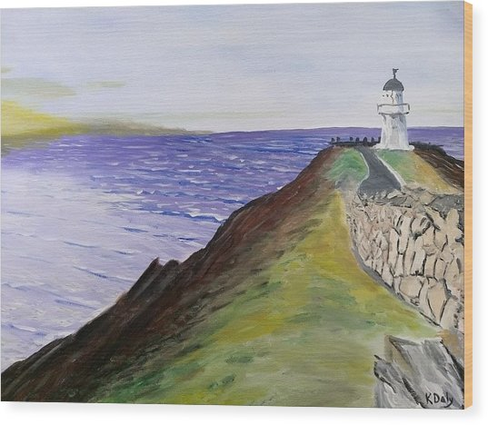 New Zealand Lighthouse Wood Print