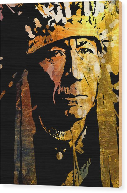 Nez Perce Chief Wood Print