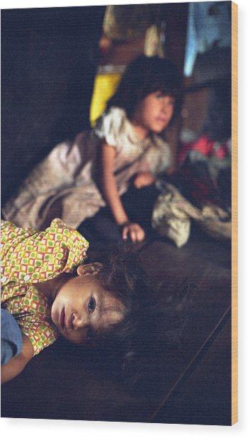 Nicaraguan Girls Wood Print