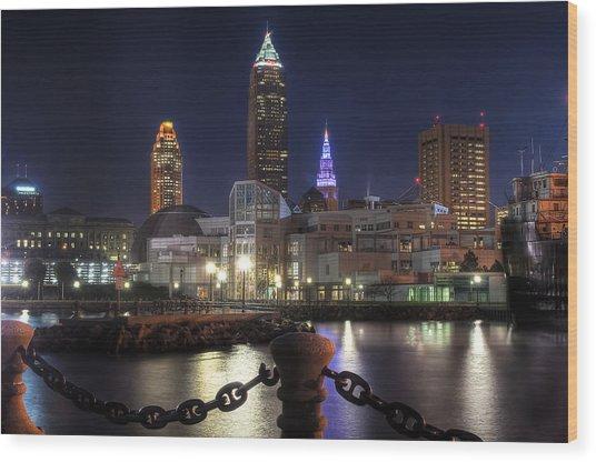 Night Falls On The North Coast Wood Print