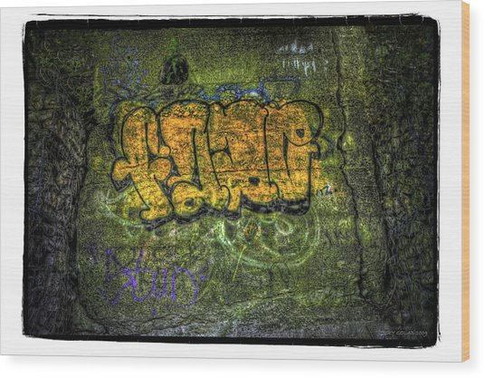 No.3 Wood Print by Jerry Golab