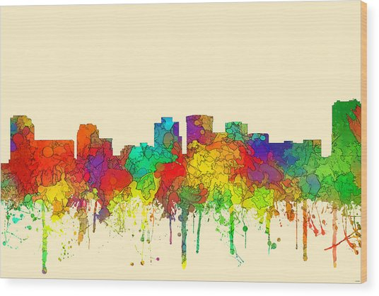 Norfolk Virginia Skyline Wood Print