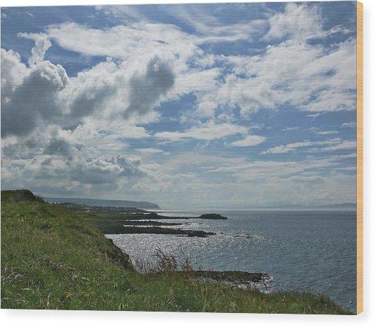 North Coast Cloudscape Wood Print