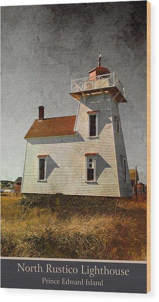 North Rustico Lighthouse Wood Print