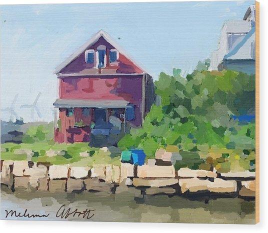 North Shore Art Association At Reed's Wharf Wood Print
