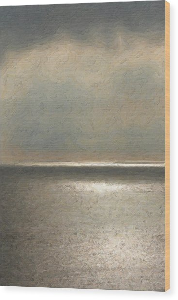 Not Quite Rothko - Twilight Silver Wood Print