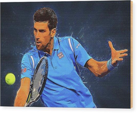 Novak Djokovic Wood Print