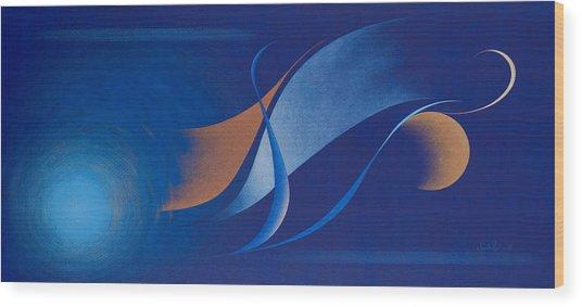 Nr 15 Wood Print by Sandhra Rosen