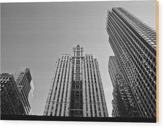 Nyc Buildings Wood Print by Patrick  Flynn