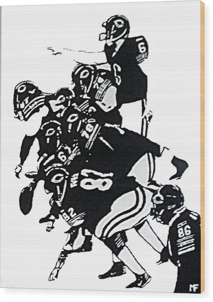 O-line Wood Print by Matthew Formeller