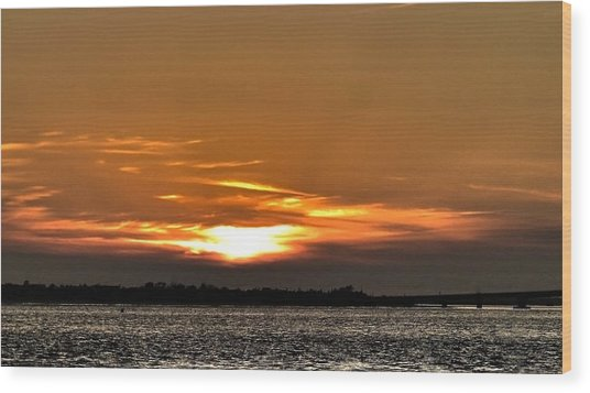 Ocean City New Jersey Sunset Wood Print by Kevin  Sherf