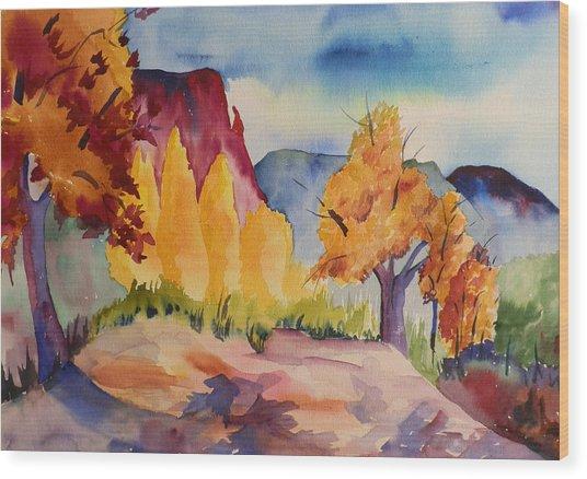 October At Ghost Ranch Wood Print