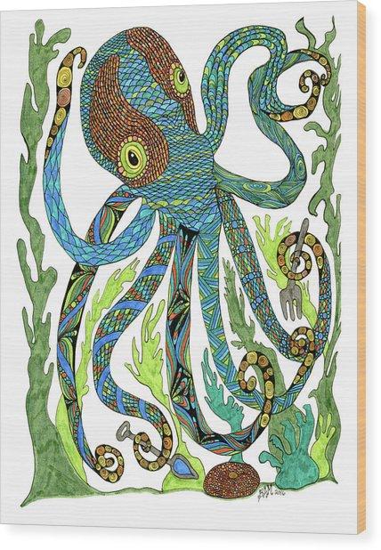 Octopus' Garden Wood Print