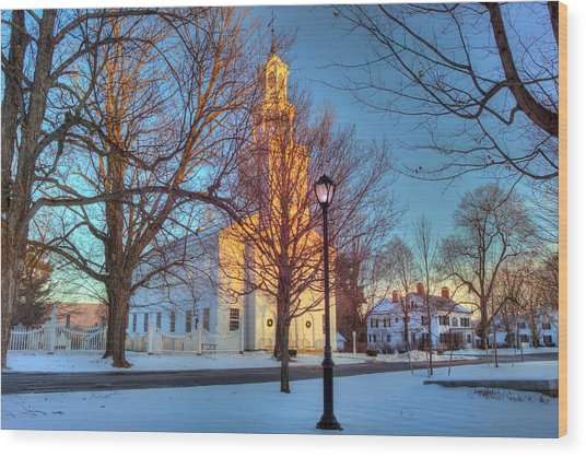 Old First Church - Bennington Vermont Wood Print