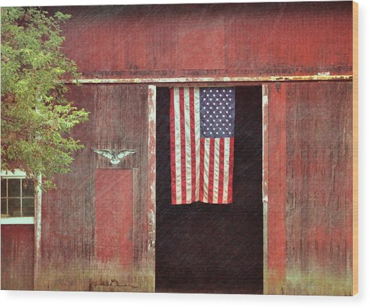 Old Glory Wood Print by JAMART Photography
