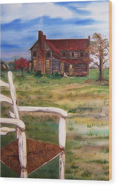 Old Home  Wood Print by Penny Everhart