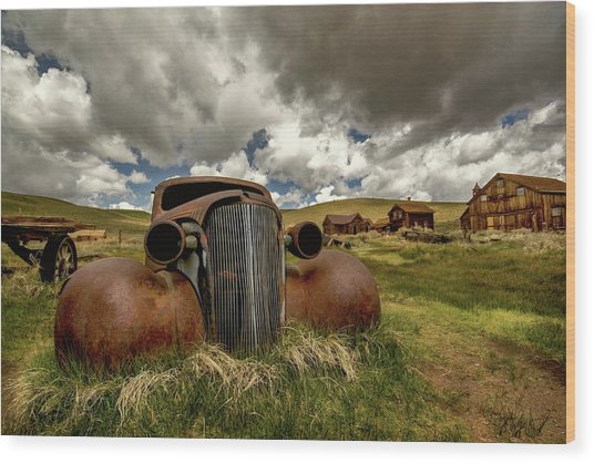 Old Jalopy Bodie State Park Wood Print
