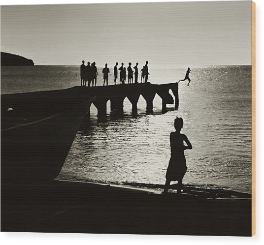 Old Jetty- St Lucia Wood Print