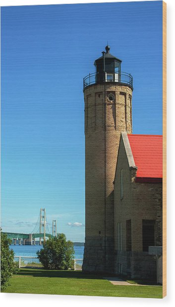 Old Mackinac Point Lighthouse Wood Print