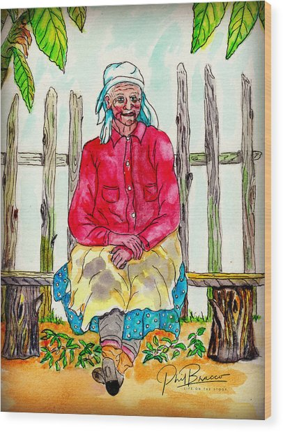Old Migrant Worker, Resting, Arcadia, Florida 1975 Wood Print