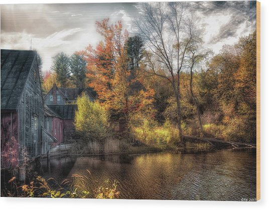 Old Mill Boards Wood Print