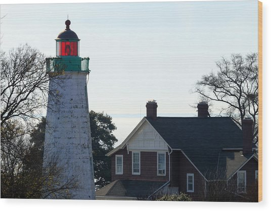 Old Point Comfort Lighthouse Wood Print