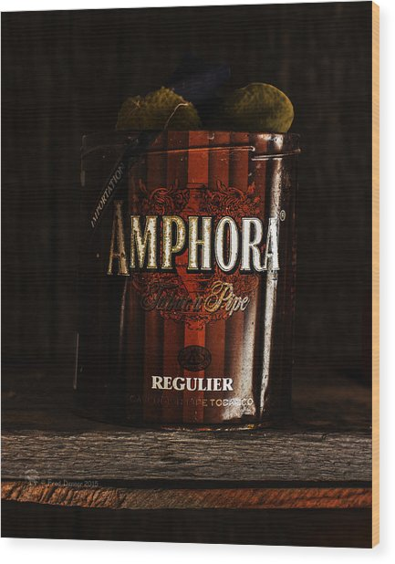 Wood Print featuring the photograph Old Tobacco Can by Fred Denner