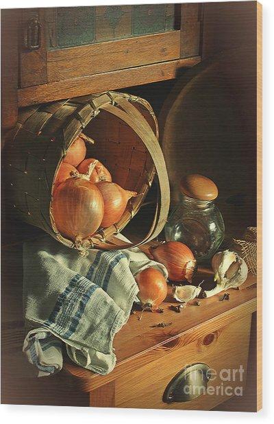 Onionart Wood Print