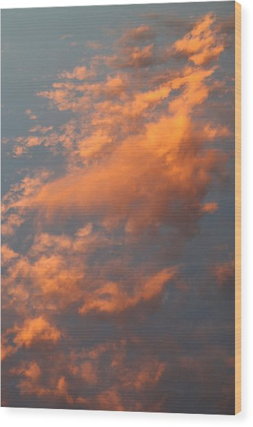 Orange Sky Wood Print by Brande Barrett
