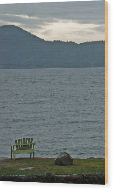 Orcas Island View Wood Print