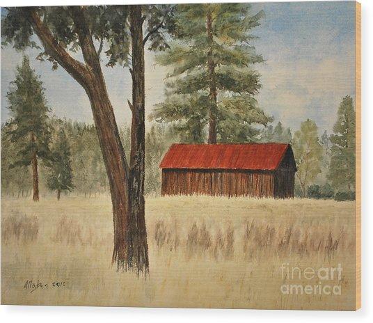 Oregon Barn Wood Print