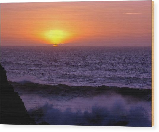 Oregon Sunset Wood Print by Scott Gould