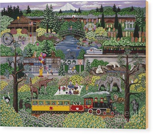Oregon Zoo Wood Print
