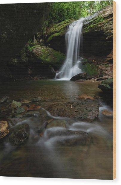 Otter Falls - Seven Devils, North Carolina Wood Print