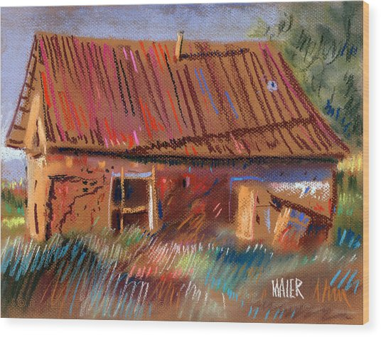 Outbuilding Wood Print