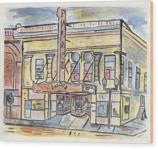 Palace Theater Wood Print