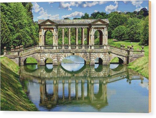 Palladian Bridge Nature Scene Wood Print