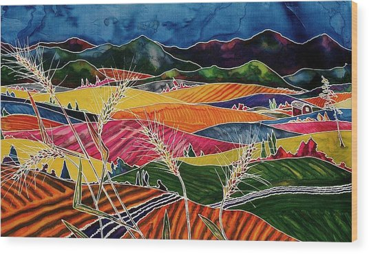 Palouse Fields Wood Print