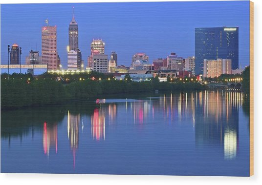 Panoramic Indianapolis Wood Print