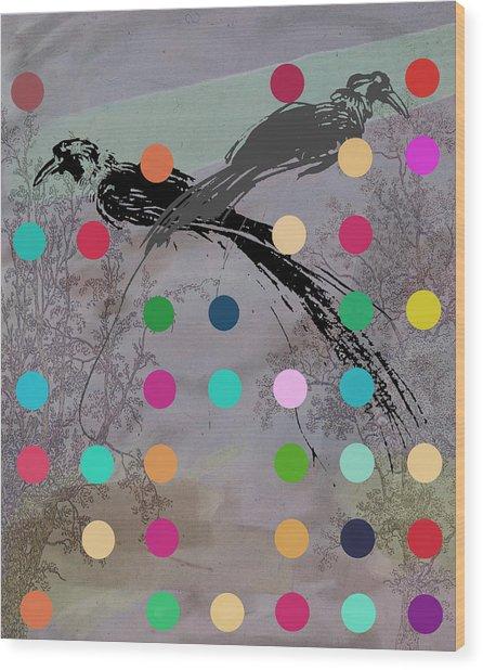 Paradise Birds Wood Print