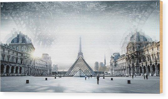Paris Wood Print by Ivan Vukelic