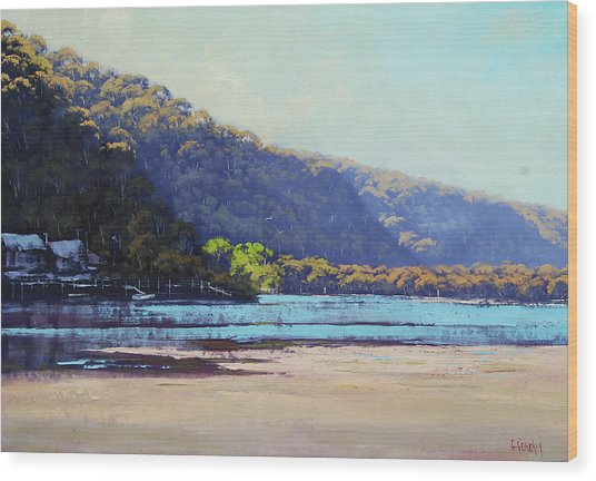 Patonga Creek Wood Print