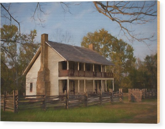 Pea Ridge Wood Print