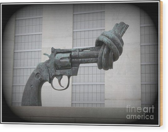 Peace Is The Answer - Iconic New York City Sculpture Wood Print