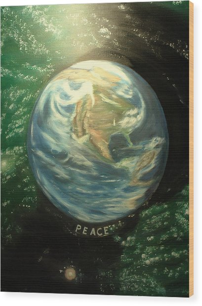 Peace Wood Print by Kenneth LePoidevin