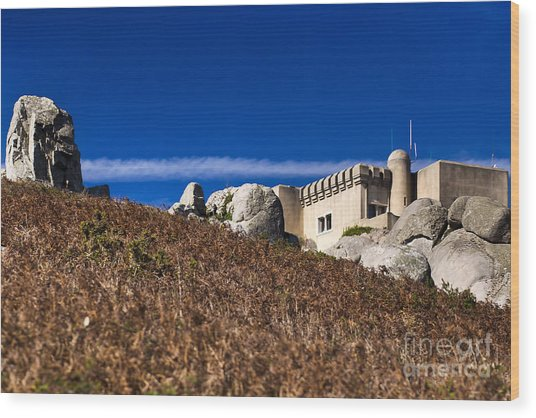 Peninha In Sintra Natural Park Wood Print by Andre Goncalves