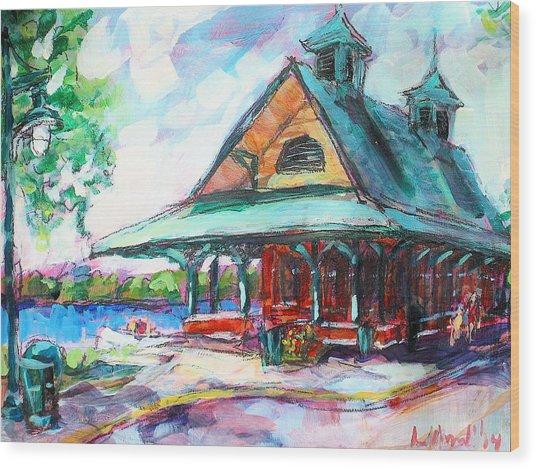 Pewaukee Depot Wood Print
