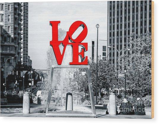 Philadelphia Love 2005 Wood Print