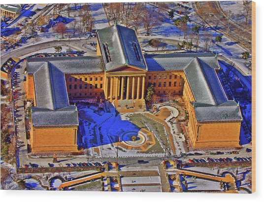 Philadelphia Museum Of Art 26th Street And Benjamin Franklin Parkway Philadelphia Pennsylvania 19130 Wood Print by Duncan Pearson