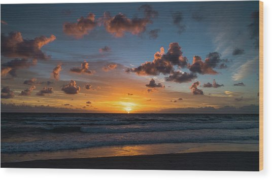 Pink Cloud Sunrise Delray Beach Florida Wood Print